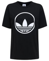 Adidas Originals Circle Trefoil Tシャツ Black