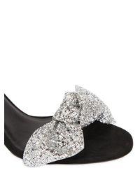 Isabel Marant Black Akynn Glitter Bow Sandal