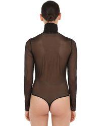 Wolford Black Crystal Embellished String Bodysuit