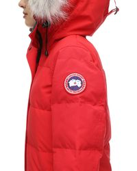 Canada Goose Shelburne ファートリムダウンパーカ Red