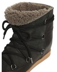 Isabel Marant Natural Black Nowles Ankle Boots