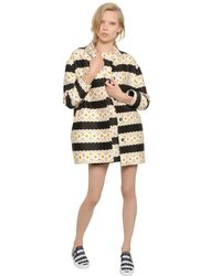 Mother Of Pearl - Black Floral Printed Cotton & Silk Cocoon Coat - Lyst