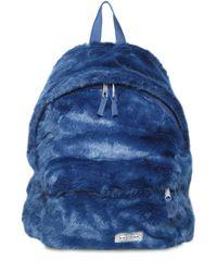 Eastpak - Blue 24l Padded Pak'r Faux Fur Backpack - Lyst