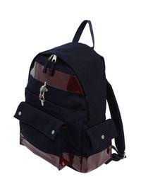 Raf Simons Blue Eastpak Nylon Backpack W/ Pvc Details