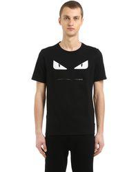T-shirt En Jersey De Coton Imprimé Fendi pour homme en coloris Black