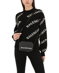 Balenciaga Xs Ville レザーカメラバッグ Black