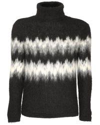 メンズ Saint Laurent モヘアブレンドタートルネックセーター Black