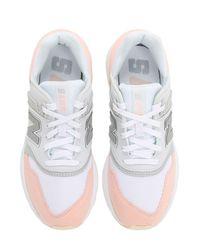 New Balance 997s スエード&メッシュスニーカー White