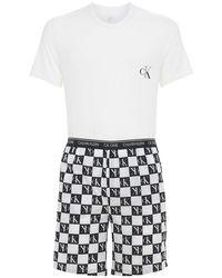 Хлопковая Пижама Calvin Klein для него, цвет: White