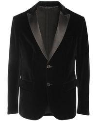 メンズ Armani Exchange ベルベットスモーキングジャケット Black