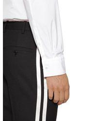 Neil Barrett Hemd Aus Baumwollpopeline Mit Blitzmotiv in White für Herren