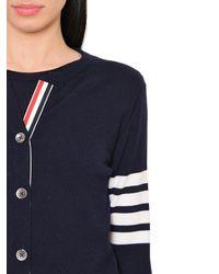 Thom Browne Blue Intarsia Stripes Merino Wool Sweater Set