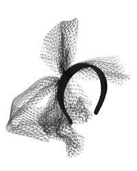 Serre-Tête En Velours Avec Noeud RED Valentino en coloris Black