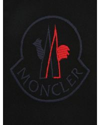 Embroided logo sweater Moncler en coloris Black
