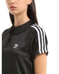 Adidas Originals Black 3 Stripes Polo Shirt
