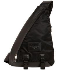メンズ Givenchy ロゴ レザーショルダーバッグ Black