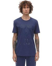 Футболка Из Хлопкового Джерси С Принтом Логотипа Moschino для него, цвет: Blue