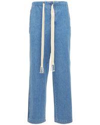 メンズ Loewe ルーズコットンデニムジーンズ Blue