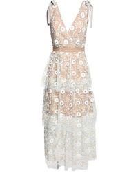 Платье Из Кружева Self-Portrait, цвет: White