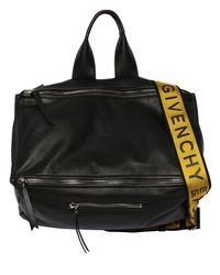 メンズ Givenchy Pandora タンブルレザーバッグ Black