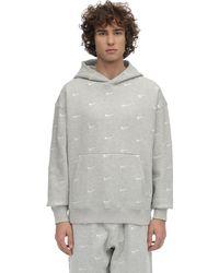 Nike Hoodie Aus Fleece Mit Swoosh-logo in Gray für Herren
