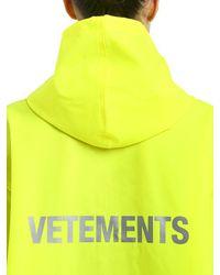 Vetements Yellow Impermeabile Gommato Con Logo