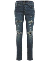 メンズ Amiri Thrasher Plus コットンデニムジーンズ 15cm Blue