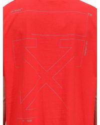 メンズ Off-White c/o Virgil Abloh オーバーサイズ コットンtシャツ Red