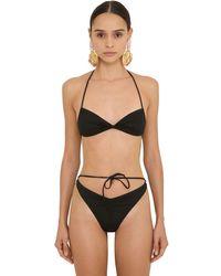 Bikini In Lycra Stretch di Alessandra Rich in Black