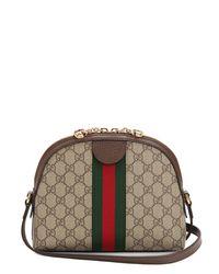 Gucci Brown Ophidia Gg Supreme Shoulder Bag