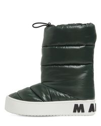 Marni Green 30mm Paw Padded Nylon Ankle Boots