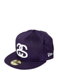 Stussy Blue New Era World Tour Baseball Hat for men