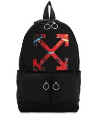 Off-White c/o Virgil Abloh - Black Rucksack Aus Nylon for Men - Lyst