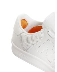 New Balance White 300 Perforated Leather Sneakers for men