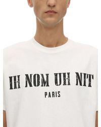 Camiseta De Algodón Jersey Estampada Ih Nom Uh Nit de hombre de color White