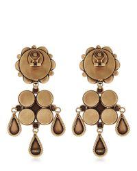 Etro - Black Flower Earrings - Lyst