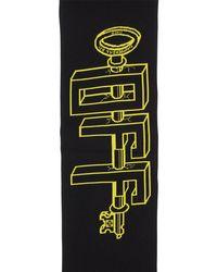 Шарф Universal Key Off-White c/o Virgil Abloh для него, цвет: Black