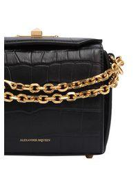 Alexander McQueen - Black Box 16 Croc Embossed Leather Bag - Lyst
