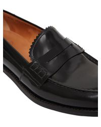 Church's Black 20mm Sally Brushed Leather Penny Loafers