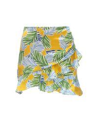 Bec & Bridge Palm Paradise サテンミニスカート Yellow