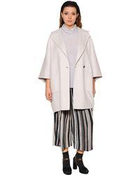 Marina Rinaldi White Soft Wool Cloth Coat