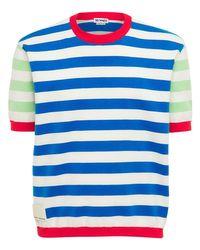 メンズ Sunnei コットンニットtシャツ Blue