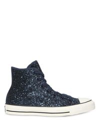 Converse - Blue Chuck Taylor Glittered High Top Sneakers - Lyst