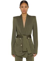 Balmain ダブルブレステッドオーバーサイズジャケット Green