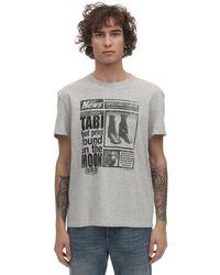 メンズ Maison Margiela コットンジャージーtシャツ Gray