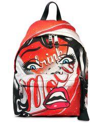 Moschino Red Rucksack Aus Kunstleder