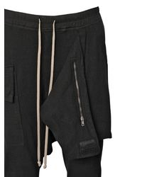 Rick Owens - Black Drkshdw Paneled Cotton Gauze Pants for Men - Lyst