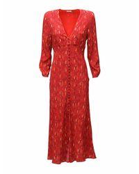 Rixo Katie クレープドレス Red