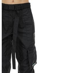 Represent Black Nylon Cargo Pants