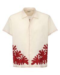 メンズ Bode Lvr Sustainable コットンシャツ Multicolor